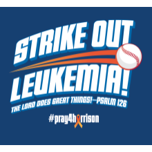 Navy Strike Out Leukemia T-Shirt