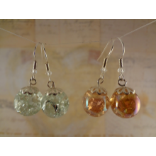 Crackled Champagne --- Earrings