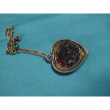 Red Gears Resin Filled Pendant