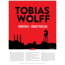 Tobias Wolff screen-printed poster