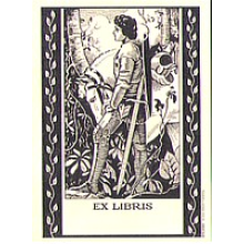 Set of 12 Knight with Horse Heritage Bookplates