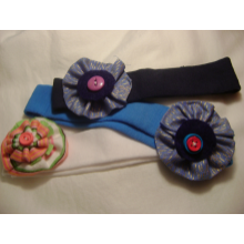 Fabric Flower Stretch Headbands
