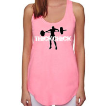 (Pre-Order) Thick Chick Lightweight Terry Racerback Tank - Neon Heather Pink