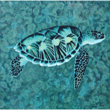 Painting: Sea Turtle OOAK Original Art