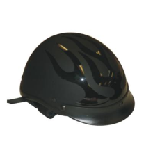 Black Flame Design DOT Approved Motorcycle Biker Helmet