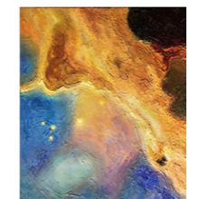 "The Swan Nebula:""The Swan"" - HALF SIZE Giclee Reproduction on TEXTURED WATERCOLOR PAPER"