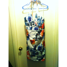 Size 3X White Floral Print Summer Dress