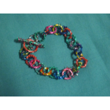 Bright Colorful Wire Bracelet