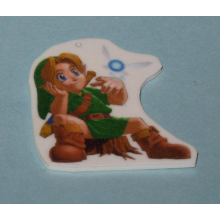 Legend of Zelda Link and Navi Keychain