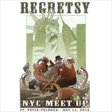 Regretsy NYC Meetup Poster by Wylie Elise Beckert (domestic shipping)