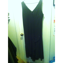 Size 24W Black Beaded Formal Dress