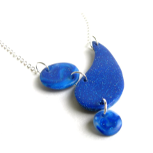 Abstract Blue Drop Necklace
