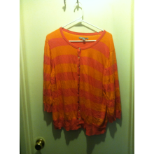 XXL Neon Orange and Pink Cardigan