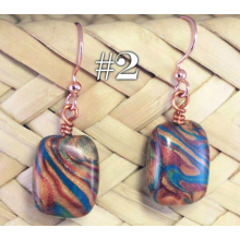 "Canyon Colors ""Chiclet"" Earrings, copper earwires"