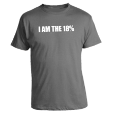 I AM THE 18% Adult T-Shirt
