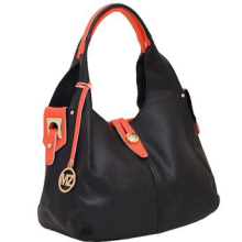 Genuine Leather Hobo Bag BLK