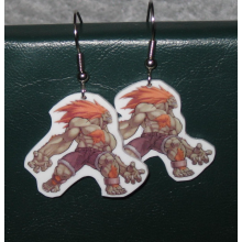 Street Fighter Blanka Earrings