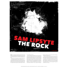 Sam Lipsyte screen-printed poster