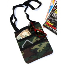 Camouflage Design Cross Body Nylon Purse Shoulder Bag