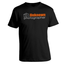 Unknown Photographer Logo Adult T-Shirt Sizes: SM-XL