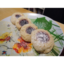 1 doz Raspberry Almond Thumbprints