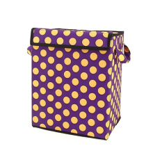 Organizing Tote Box - Purple / Yellow Polka Dots