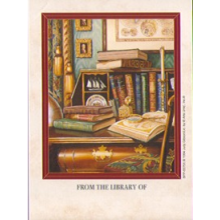 Set of 12 Books on a Desk Bookplates