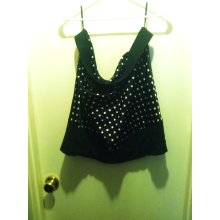 Size 3 Torrid Black and White Polka Dot Bubble Skirt