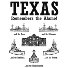 Texas Remembers T-shirt (Large White)