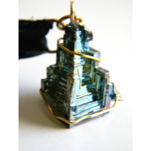 Bismuth Castle on Black Silk