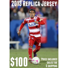 Shipping Only: 2013 FC Dallas Replica Jersey