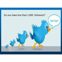 TWEET!  TWEET!  TWEET!   Your message to 500,000 plus followers.  Get started today.