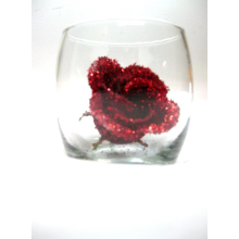 Sparkling Long Stemmed Red Glitter Rose