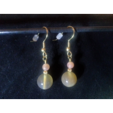 Agate and Moonstone Earrings