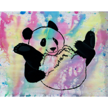 Painting: Panda OOAK Original Pop Art
