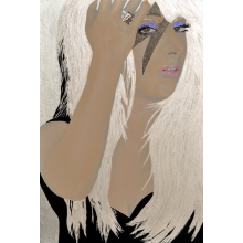 Painting: Lady Gaga Tribute OOAK Original Pop Art