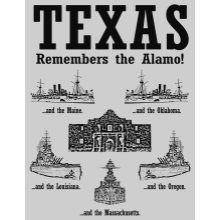 Texas Remembers T-shirts (All Sizes, Gray)