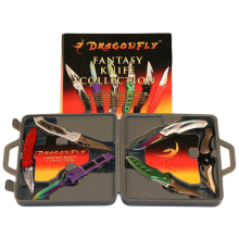 Dragonfly® Set of 6 Collectible Fantasy Knives with Storage / Display Case