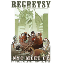 Two-pack Regretsy NYC Meetup Poster (domestic shipping)