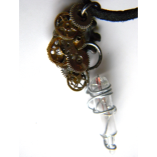 Edison's Lamp Steampunk Necklace