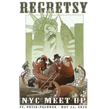 Regretsy NYC Meetup Poster by Wylie Elise Beckert