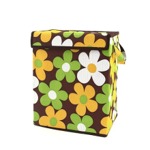 Organizing Tote Box - Brown with Flowers
