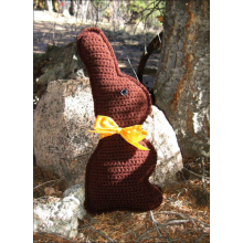 Crocheted Chocolate Bunny