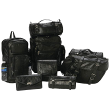 Genuine Buffalo Leather 8 Piece Complete Motorcycle Biker Luggage Set