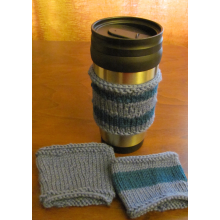 Wool Coffee Sleeve - In Blues
