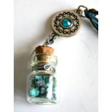 Turquoise Vial Necklace, Blue
