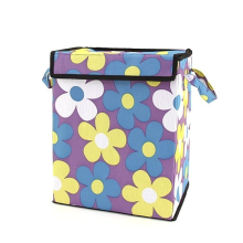 Organizing Tote Box - Purple with Flowers