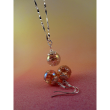 Precious Peaches --- Necklace & Earring Set