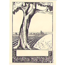 Tree on Edge of Field Bookplate