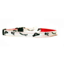 "Teacup Dog Collar Free Shipping 3/8"" - Swashbuckling Pirates"